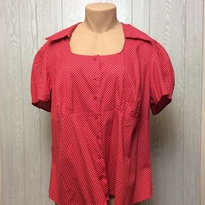 Red and White Blouse PLUS SIZE 26/28